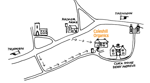Coleshill Organics map