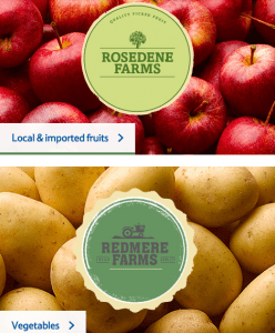 Tesco Rosedene Farms label brand